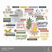 Happy Trails Digital Elements from k.becca