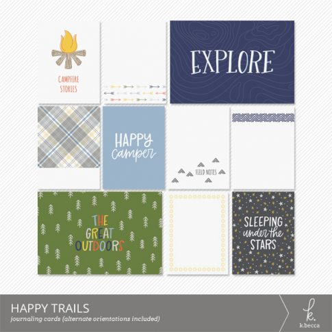 Happy Trails Journaling Cards from k.becca