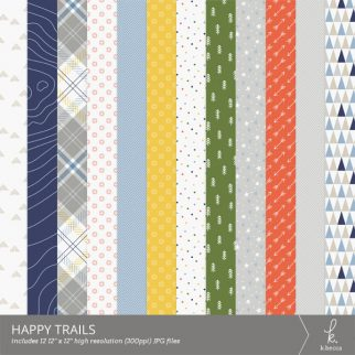 Happy Trails Digital Patterns from k.becca