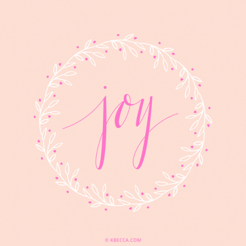 Hand Lettered Joy Wreath Vector Clip Art | kbecca.com