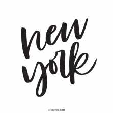 Hand Lettered New York Vector Clip Art | kbecca.com