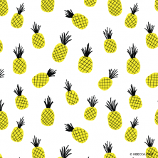 Hand Drawn Pineapples Clip Art Pattern (Vector Included) | kbecca.com