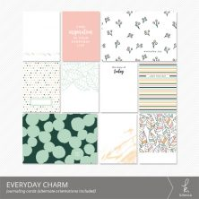 Everyday Charm Journaling Cards from k.becca (Printable PDF files included)