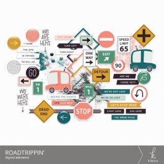 Roadtrippin' Digital Elements from k.becca