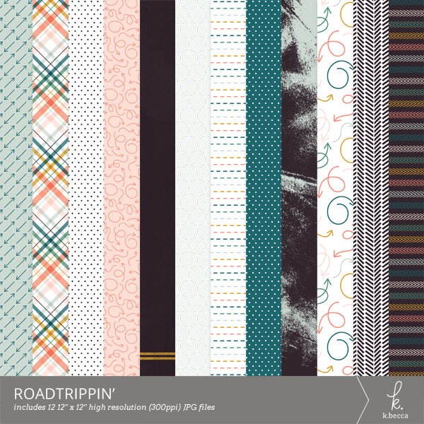 Roadtrippin' Digital Patterns from k.becca (Commercial Licensing Available)