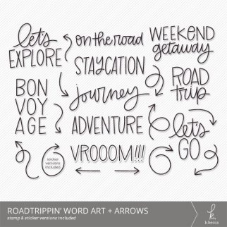 Roadtrippin' Word Art + Arrows from k.becca