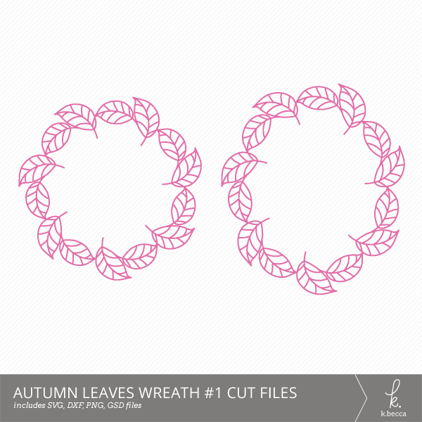 Autumn Leaves Wreath #1 Digital Cut Files from k.becca (Commercial Licensing Available)
