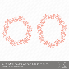 Autumn Leaves Wreath #2 Digital Cut Files from k.becca (Commercial Licensing Available)