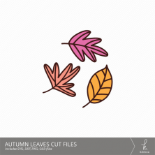Autumn Leaves Digital Cut Files from k.becca (Commercial Licensing Available)