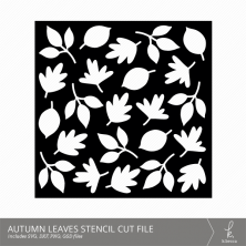 Autumn Leaves Stencil Digital Cut Files from k.becca (Commercial Licensing Available)