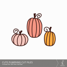 Cute Pumpkins Digital Cut Files from k.becca (Commercial Licensing Available)