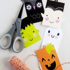 Free Printable Cute Halloween Tags for Treat Bags from k.becca