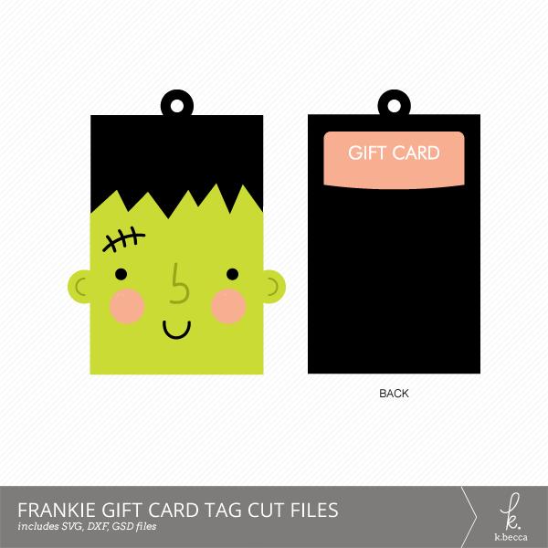 Frankenstein Cut File Gift Card Holder Tag SVG Included