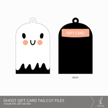 Ghost Gift Card Holder + Tag Digital Cut Files from k.becca
