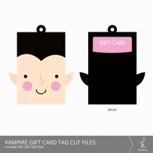 Vampire Gift Card Holder + Tag Digital Cut Files from k.becca