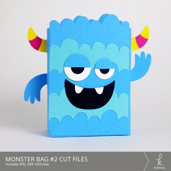 Monster Bag Box #2 Cut Files from k.becca