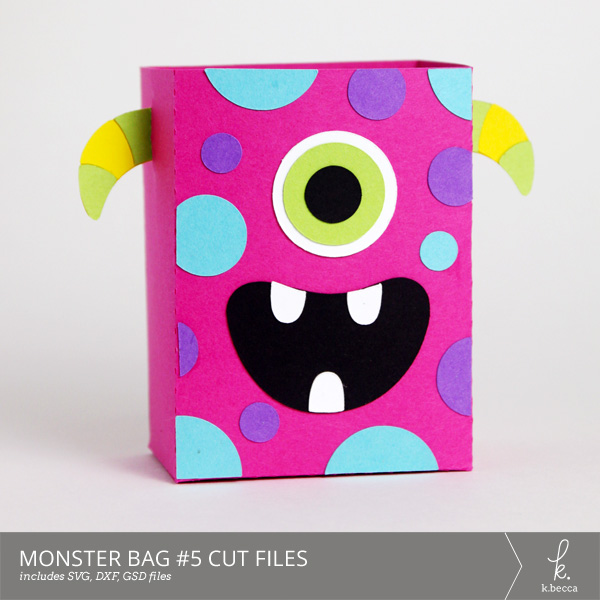 Monster Bag Box #5 Cut Files from k.becca