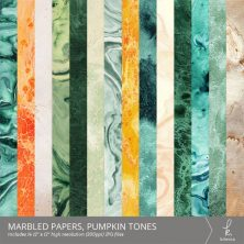 Marbled Digital Papers (Pumpkin Tones) from k.becca