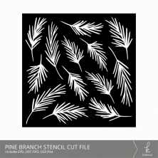 Pine Branches Stencil Cut Files from k.becca (Commercial Licensing Available)