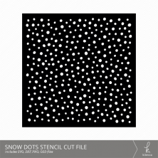 Snow Dots Stencil Cut Files from k.becca (Commercial Licensing Available)