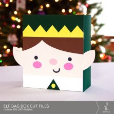 Christmas Elf Box Bag Digital Cut Files from k.becca (Commercial Licensing Available)