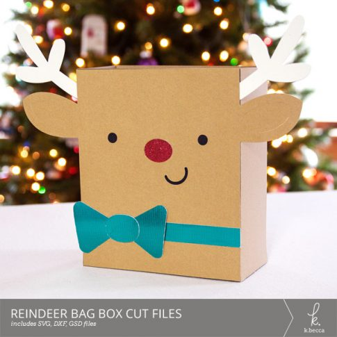 Reindeer Box Bag Digital Cut Files from k.becca (Commercial Licensing Available)