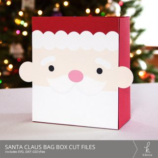 Santa Claus Box Bag Digital Cut Files from k.becca (Commercial Licensing Available)