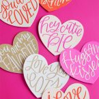 Hand Lettered Heart Cut Files from k.becca