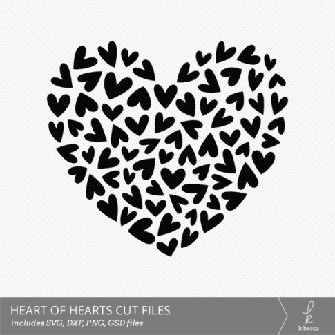 Heart of Hearts Digital Cut File from k.becca (Commercial Licensing Available)
