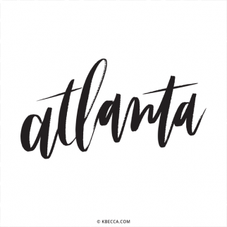 Hand Lettered Atlanta Commercial Vector Clip Art from k.becca