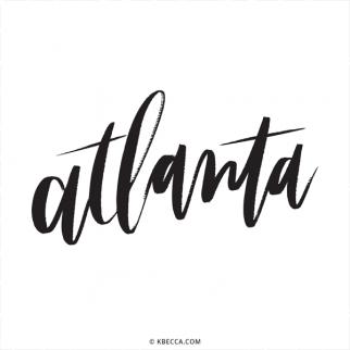 Hand Lettered Atlanta Commercial Vector Clip Art from k.becca