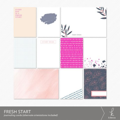 Fresh Start Journaling Cards from k.becca #scrapbooking