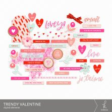 Trendy Valentine Digital Elements from k.becca