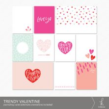 Trendy Valentine Journaling Cards from k.becca