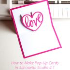 Silhouette Studio Pop Up Creator Tutorial (Video) #cardmaking #silhouettecameo