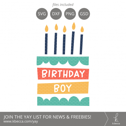 Birthday Boy Cake SVG Files from k.becca #svg #svgfiles #silhouettecameo #cricut