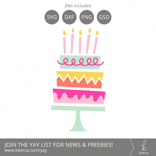 Birthday Cake SVG Files from k.becca #svg #svgfiles #cutfiles #silhouettecameo #cricut