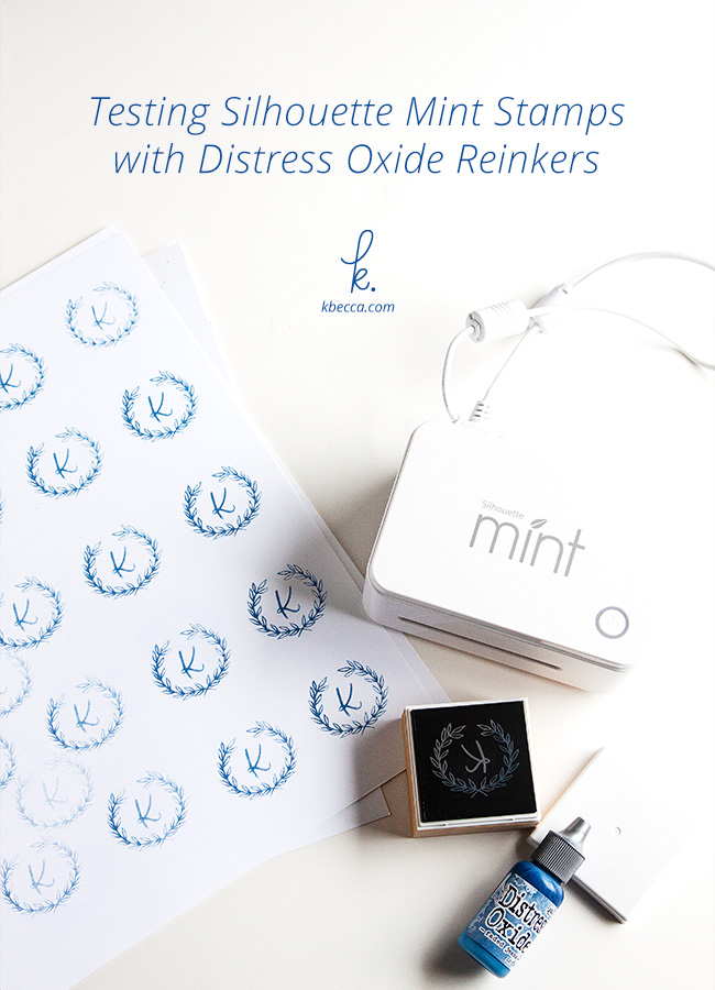 Silhouette Mint Stamps + Distress Oxide Reinkers (Video)