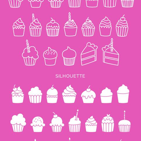 I Heart Cupcakes Dingbat Font #font #dingbat