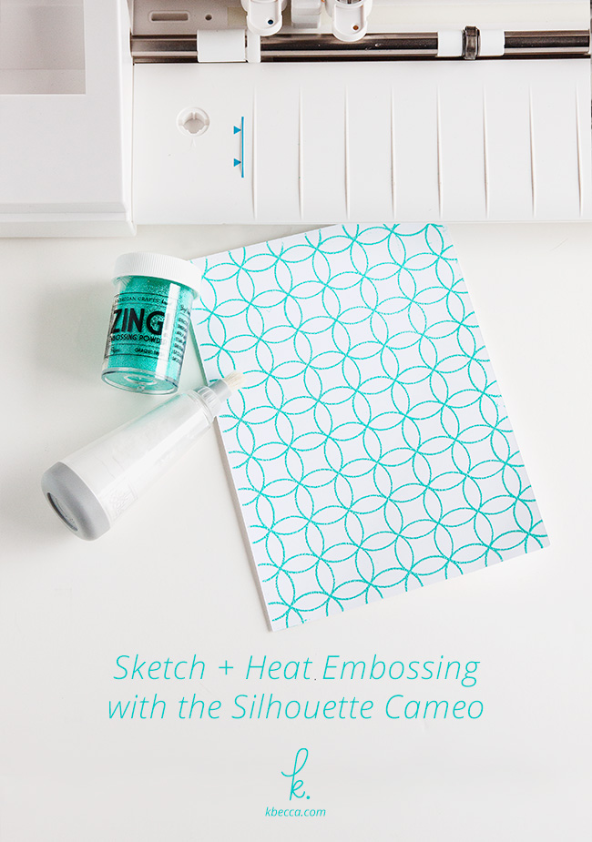 Silhouette Sketch & Heat Embossing Technique Tutorial (Video) #silhouettecameo