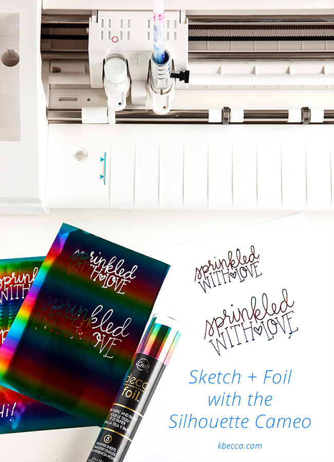 Silhouette Sketch Glue Pen + Foiling With or Without a Minc / Laminator (Video)