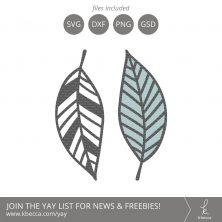 Leaf #2 SVG Cut Files (Commercial License Available) #svgfiles #silhouettecameo #cutfiles