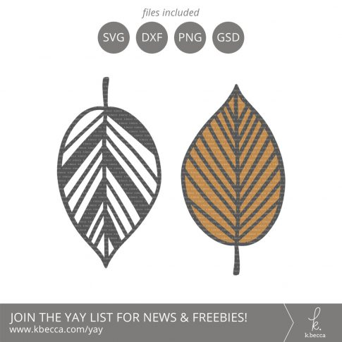 Leaf #3 SVG Cut Files (Commercial License Available) #svgfiles #silhouettecameo #cutfiles