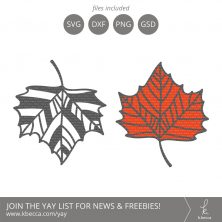 Leaf #4 SVG Cut Files (Commercial License Available) #svgfiles #silhouettecameo #cutfiles