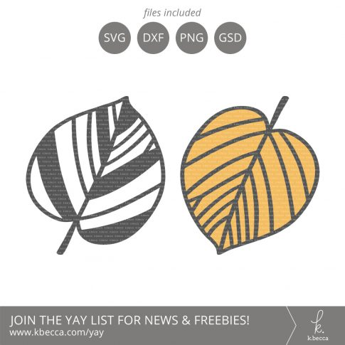 Leaf #5 SVG Cut Files (Commercial License Available) #svgfiles #silhouettecameo #cutfiles