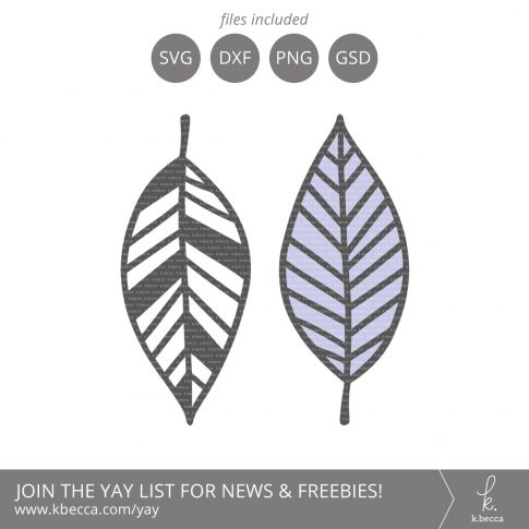 Leaf #6 SVG Cut Files (Commercial License Available) #svgfiles #silhouettecameo #cutfiles