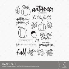 Happy Fall Digital Stamps by k.becca #cardmaking #digistamps #printandcut