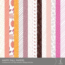Happy Fall Digital Patterns by k.becca