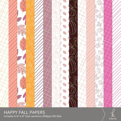Happy Fall Digital Patterns by k.becca