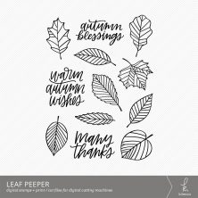 Leaf Peeper Digital Stamps by k.becca #cardmaking #digistamps #printandcut